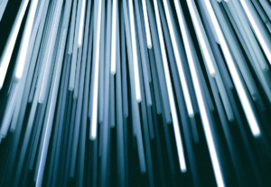 Abstract image of illuminated transparent tubes